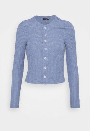 NORA CARDI - Cardigan - blue texture