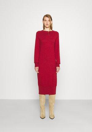 ROUND NECK DRESS - Jumper dress - wine