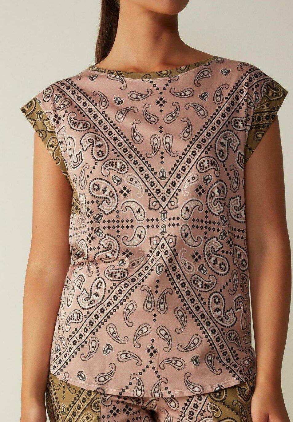 Damen KURZARMSHIRT AUS ULTRAFRESH BANDANA MANIA - Nachtwäsche Shirt