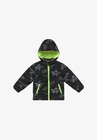 Blue Seven - KIDS BLACK DINOSAUR PRINT - Winter jacket - schwarz - 3
