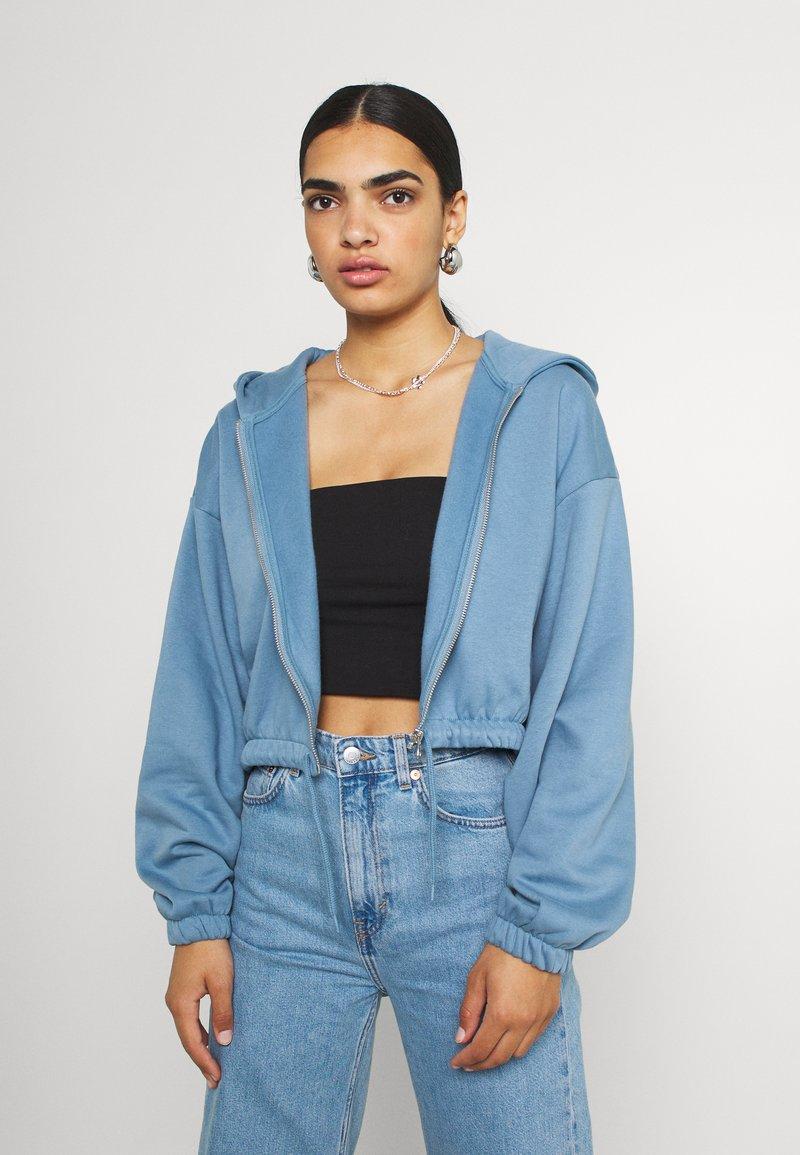 Weekday - MIRIAM ZIP HOODIE - Zip-up sweatshirt - blue