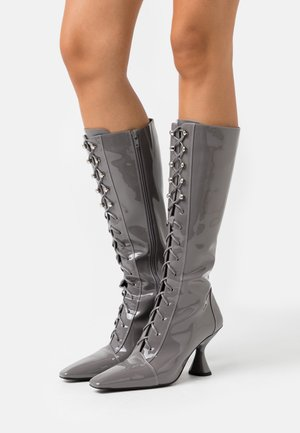 Lace-up boots - grey