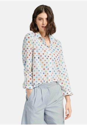 Button-down blouse - weiß/multicolor