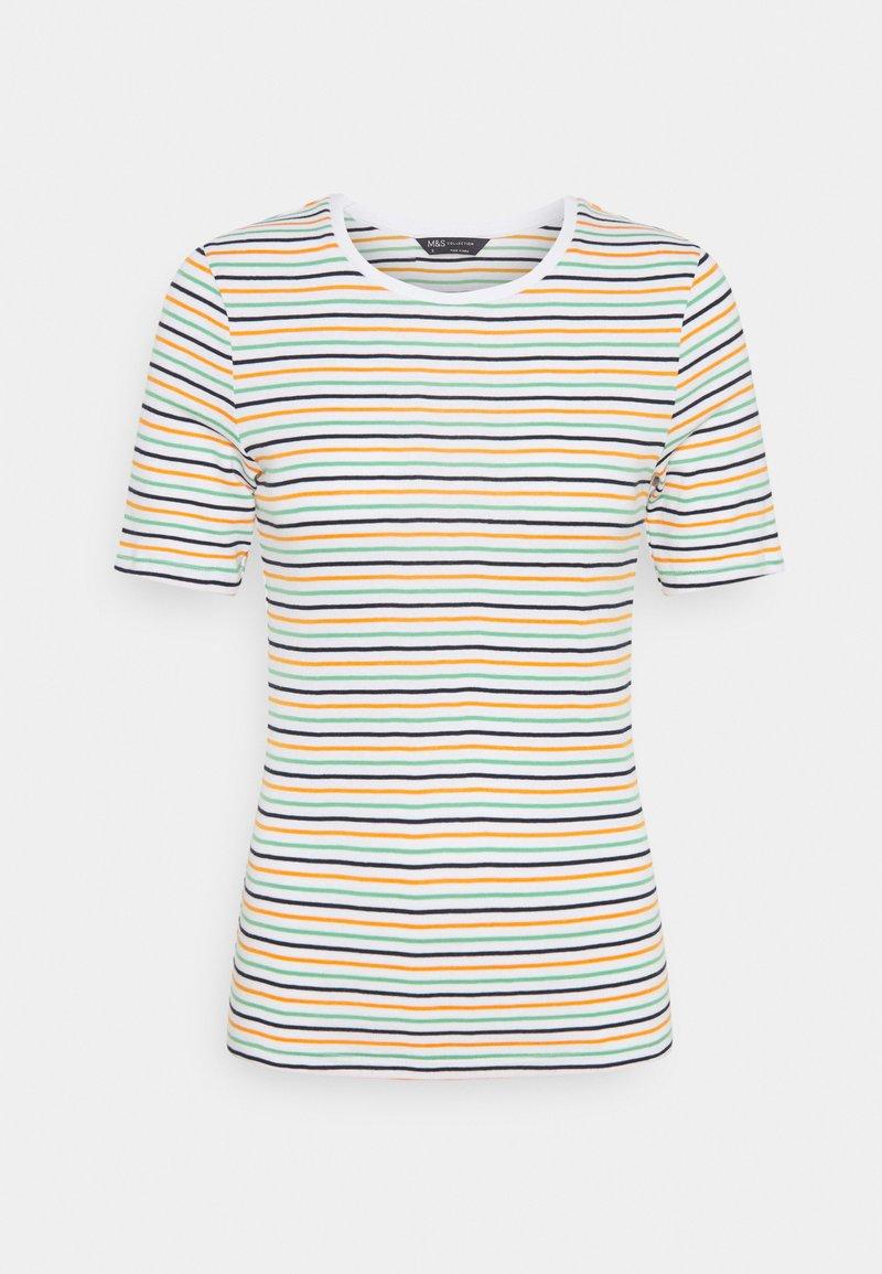 Marks & Spencer London - CREW  - Print T-shirt - white