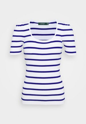 NADALIA SHORT SLEEVE - T-shirts med print - white/heritage royal