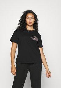 Dr.Denim Plus - MELROSE PLUS TEE - Print T-shirt - black reducing - 0