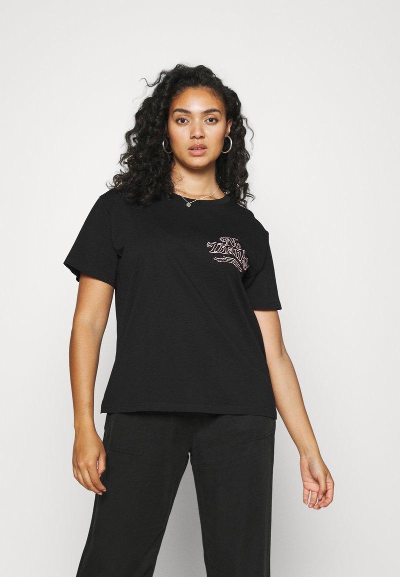 Dr.Denim Plus - MELROSE PLUS TEE - Print T-shirt - black reducing