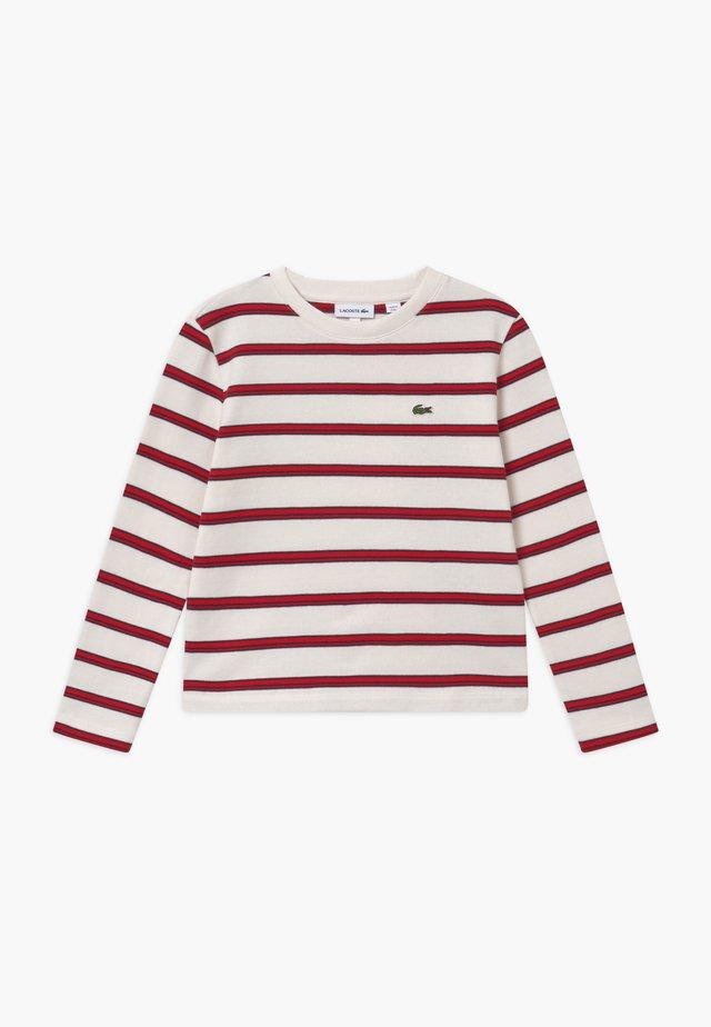 Pullover - farine/rouge-marine