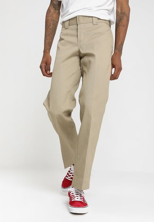 873 SLIM STRAIGHT WORK PANT - Tygbyxor - khaki