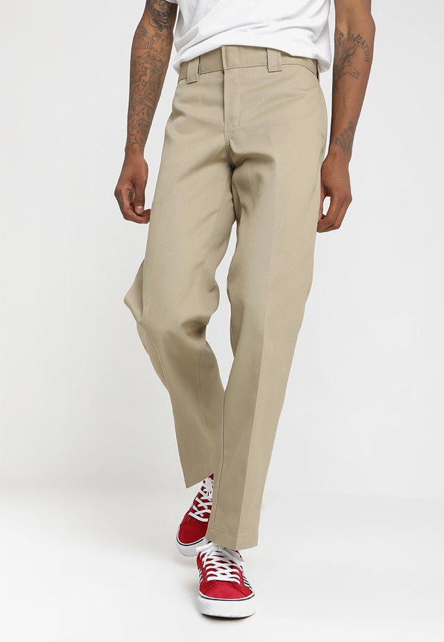 873 SLIM STRAIGHT WORK PANT - Broek - khaki
