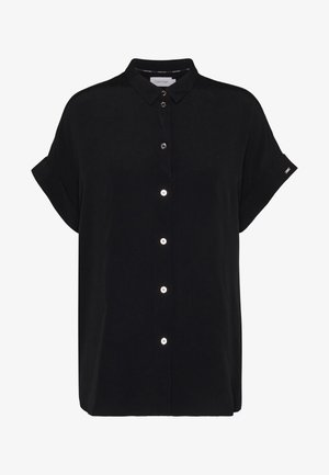 TURN UP SHIRT - Button-down blouse - black