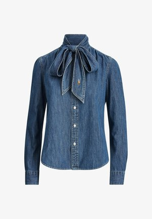 Button-down blouse - medium indigo
