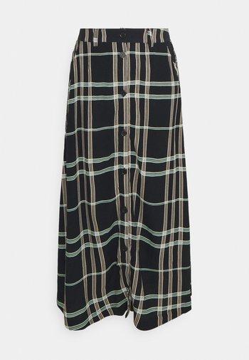 LILLIAN MIDI SKIRT - A-line skirt - black