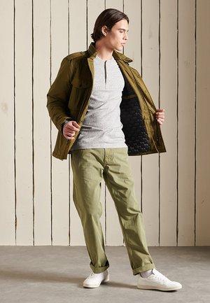 HENLEY - Long sleeved top - athletic grey marl