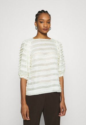 SLEEVE TASSEL  - Blouse - cream