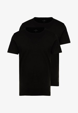 DOUBLE PACK CREW NECK TEE - Basic T-shirt - black