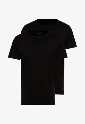 DOUBLE PACK CREW NECK TEE - T-shirt basic - black