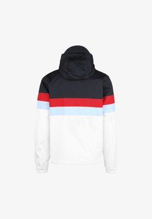 CONTRAST PANEL YOKE KAPUZENJACKE - Outdoor jacket - dark navy / white