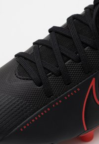 Nike Performance - MERCURIAL JR 7 ACADEMY FG/MG UNISEX - Korki Lanki - black/dark smoke grey - 5