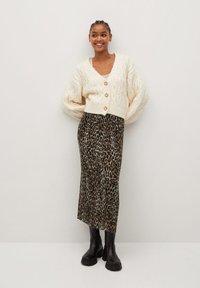 Mango - LEO - A-line skirt - black - 1