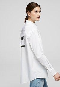 KARL LAGERFELD - Button-down blouse - white - 3
