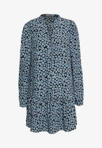 Glamorous - MINI V NECK TIER FLORAL DRESS - Day dress - dusty blue mini - 0