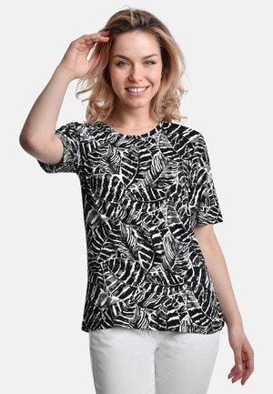 T-shirt med print - black-white