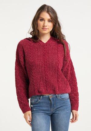 Pullover - dunkelrot