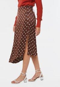 WE Fashion - A-line skirt - dark brown - 3