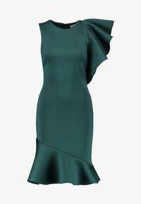 True Violet - TRUE VIOLET ONE SHOULDER PEPLUM BODYCON DRESS - Cocktail dress / Party dress - emerald - 4