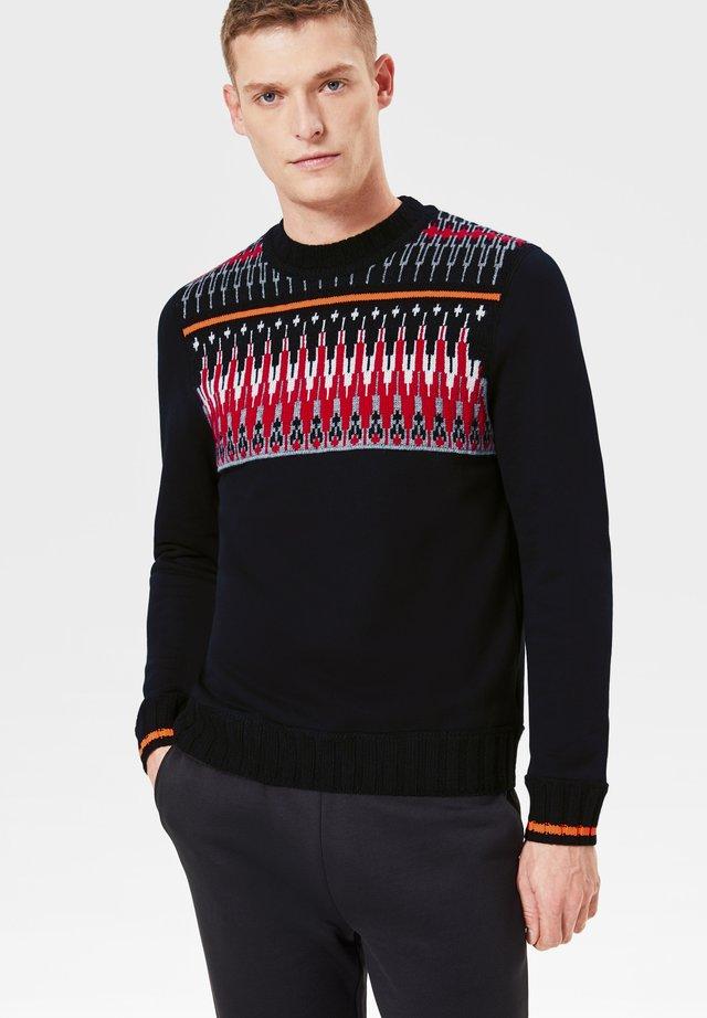Pullover - schwarz rot