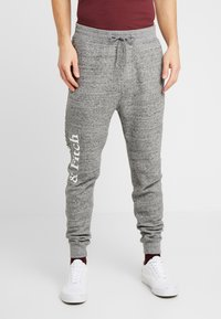 Abercrombie & Fitch - ICON  - Tracksuit bottoms - mid grey heather - 0