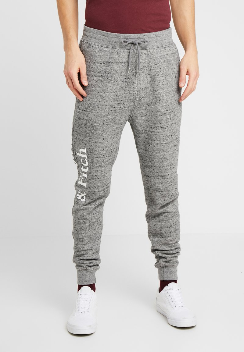 Abercrombie & Fitch - ICON  - Tracksuit bottoms - mid grey heather