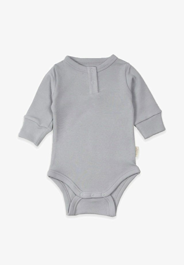 Buttoned Long Sleeve Bodysuit (0 to 3 years) - Body - grey