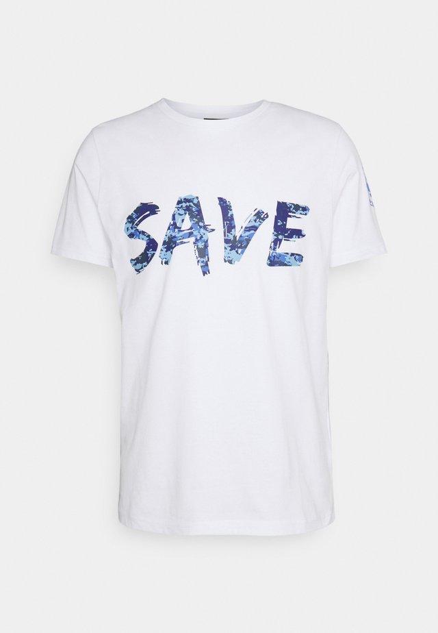 T-shirt imprimé - base bianco