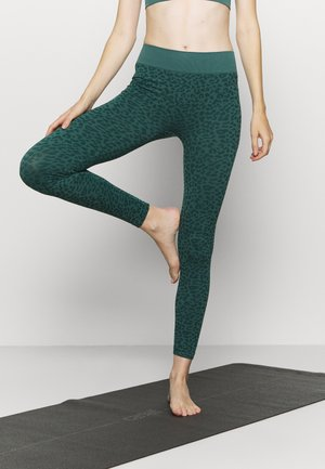 LEOPARD SEAMLESS - Leggings - green