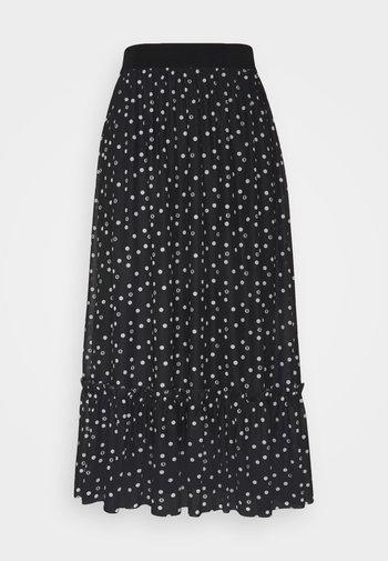 THORA FLOUNCE SKIRT - A-line skirt - black