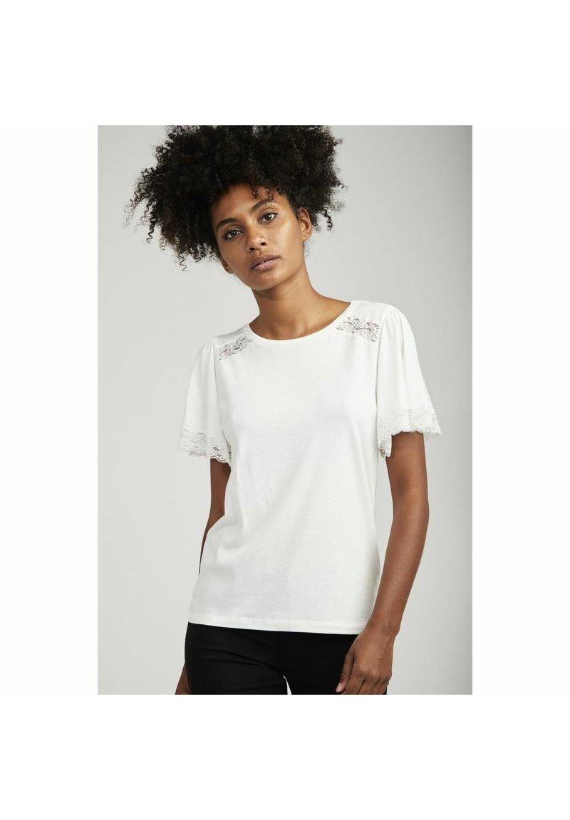 NAF NAF - T-shirt basique - ecru