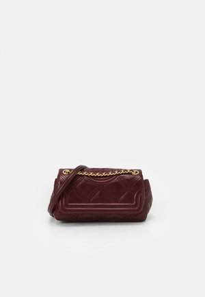 FLEMING SOFT GLAZED MINI BAG - Sac bandoulière - royal burgundy