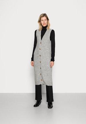SABELLA LONG VEST - Cardigan - mottled light grey