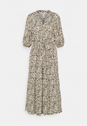 OBJHESSA MIDI DRESS TALL - Shirt dress - sandshell/animal dots