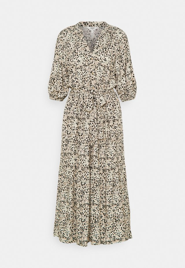 OBJHESSA MIDI DRESS TALL - Blousejurk - sandshell/animal dots