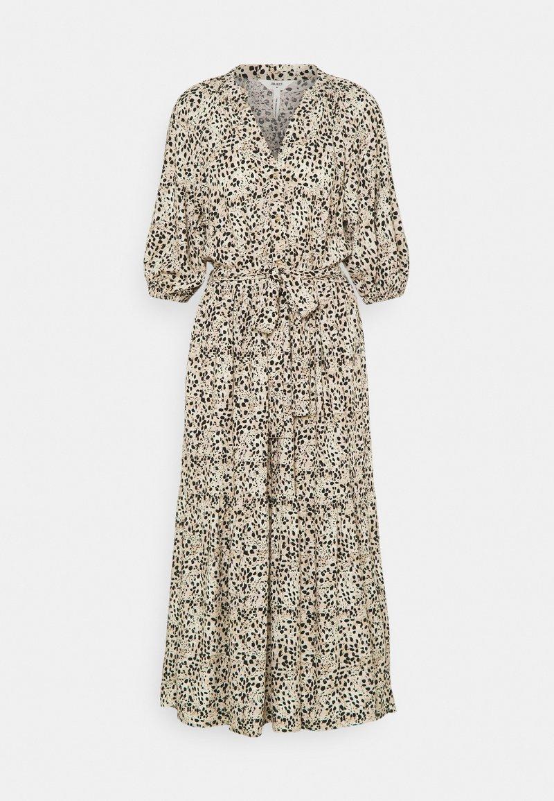 Object Tall - OBJHESSA MIDI DRESS TALL - Shirt dress - sandshell/animal dots