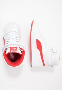 Puma - SKY LX MID - Sneakers hoog - white/high risk red - 1