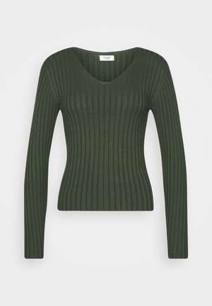 JDYLANU V NECK - Jumper - deep depths