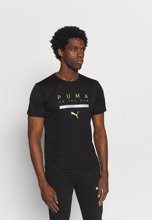 RUN TEE M - T-shirt print - black