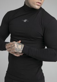 SIKSILK - SIKSILK TRANQUIL TURTLE NECK TEE - Longsleeve - black