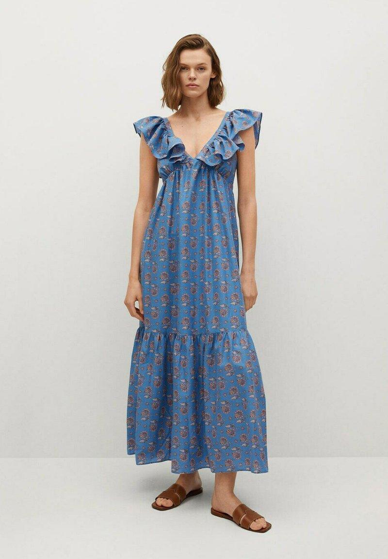 Mango - SUNNY - Vestido largo - niebieski