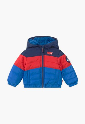 COLOR BLOCK PUFFER - Winterjas - prince blue