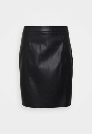 VMNORARIO SHORT SKIRT - Falda de tubo - black